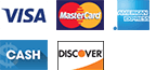 Repair Zone accepts multiple payment method including Visa Mastercard American Express Cash and Discover